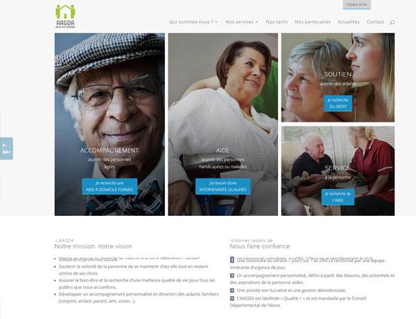 Site internet de l'AAGDA version web