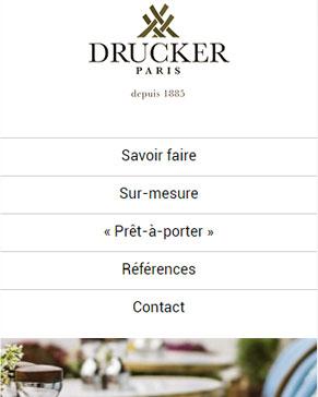 Drucker.fr - Mobilier en rotin version responsive