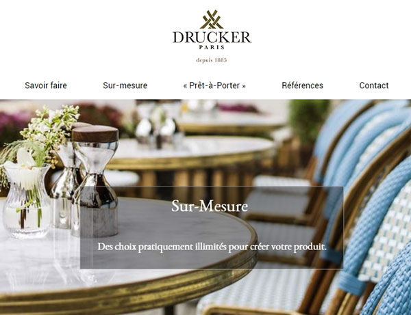 Drucker.fr - Mobilier en rotin version web