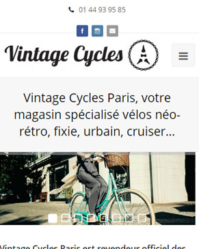 Vintage-cycles version responsive